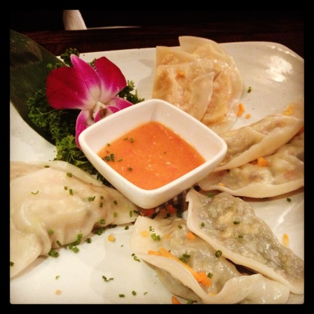 Assorted Dumpling plate at Franchia