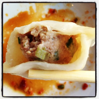 Lamb and cabbage dumpling