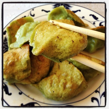 Spinach Dumplings at Am Chi