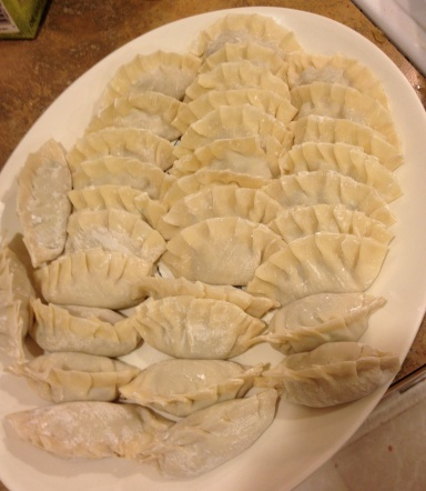 Shrimp and water chestnut dumplings