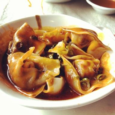 Dumplings in Hot Chili Oil