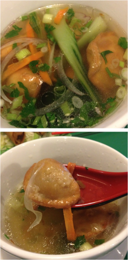 Wontons in Veggie Pho Broth