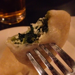 Cream and Spinach Pierogi