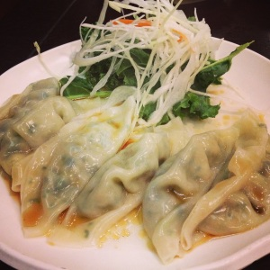 Boiled vegetable dumplings