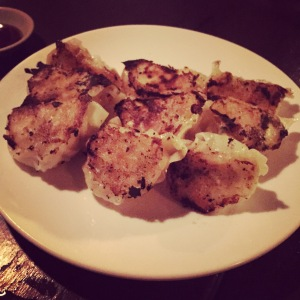 Mentai Shrimp Gyoza