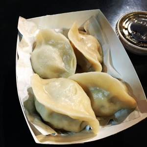 Steamed veggie dumplings at Vedge