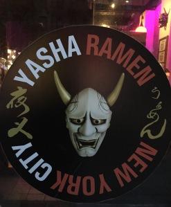 The Yasha Ramen signage