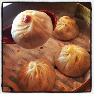 Pork and Kimchi Soup Dumplings