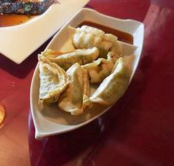 Vegetable dumplings at Golden City