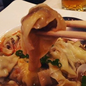 Shrimp Wonton in Chili Oil