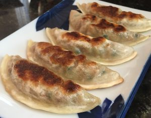 Pan fried Assi Cooked Vegetable Dumplings