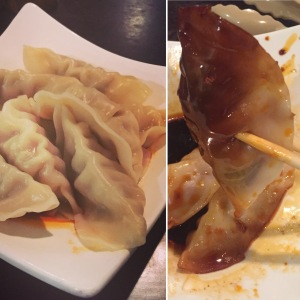 Pork Dumplings with Chili Oil
