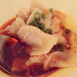 Pork Dumplings with Red Oil