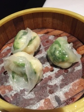 Steamed shrimp and Pea Shoot Dumplings