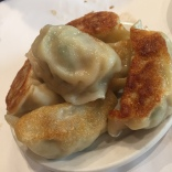 Pork pot stickers.
