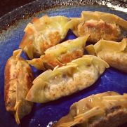 Vegan Beef and Leek Pan-Fried Dumplings