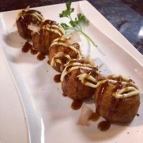 Line of takoyaki