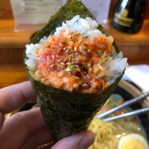 Spicy, Crunchy Tuna Hand Roll