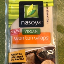 Nasoya Wonton Wrappers are finally vegan