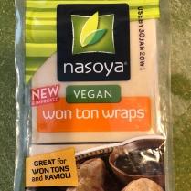 Nasoya Wonton Wrappers are finally vegan