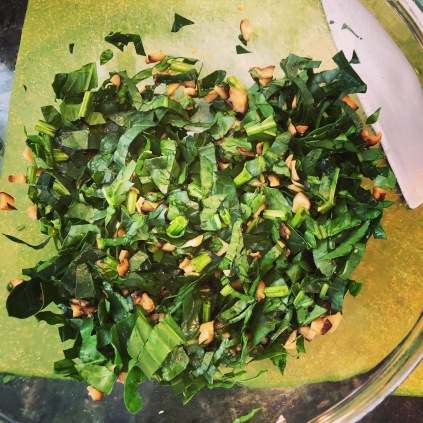 Spinach and Mushroom filling