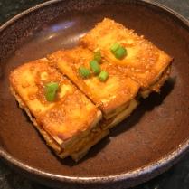 Baked tofu with miso glaze