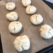 Red Bean Bao going through their second rise